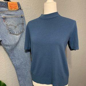 VINTAGE Mock Neck Sweater Dusty Blue ⚡️